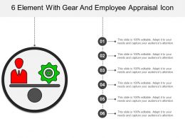 6 Element With Gear And Employee Appraisal Icon