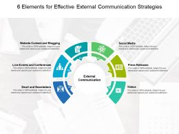 6 Elements For Effective External Communication Strategies