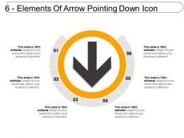 6 Elements Of Arrow Pointing Down Icon