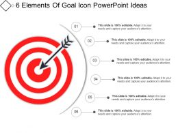 6 Elements Of Goal Icon Powerpoint Ideas
