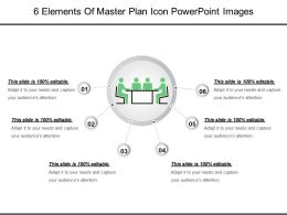 6 Elements Of Master Plan Icon Powerpoint Images