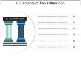6 Elements Of Two Pillars Icon Ppt Examples Slides