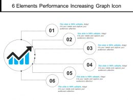 6 Elements Performance Increasing Graph Icon