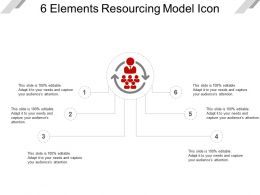 6 Elements Resourcing Model Icon Presentation Deck