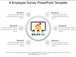 6 Employee Survey Powerpoint Template