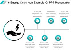 6 Energy Crisis Icon Example Of Ppt Presentation