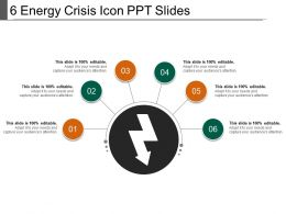 6 Energy Crisis Icon Ppt Slides