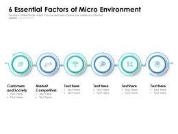 6 Essential Factors Of Micro Environment