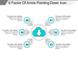 6 Factor Of Arrow Pointing Down Icon