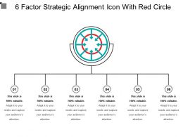 6 Factor Strategic Alignment Icon With Red Circle