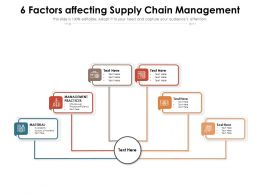 6 Factors Affecting Supply Chain Management