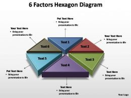 6 factors hexagon diagram editable powerpoint templates