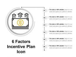 6 Factors Incentive Plan Icon