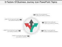 6_factors_of_business_journey_icon_powerpoint_topics_Slide01