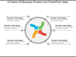 6 Factors Of Business Process Icon Powerpoint Ideas