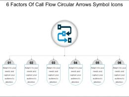 6 Factors Of Call Flow Circular Arrows Symbol Icons