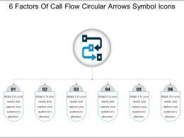 6_factors_of_call_flow_circular_arrows_symbol_icons_Slide01