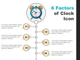 6 Factors Of Clock Icon PPT Samples Download