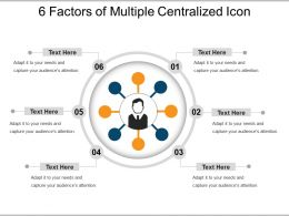 6 Factors Of Multiple Centralized Icon Ppt Example 2018