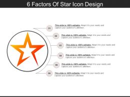 6 Factors Of Star Icon Design PPT Examples