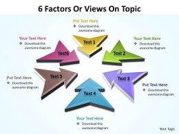 6 Factors Or Views On Topic Editable Powerpoint Templates 1