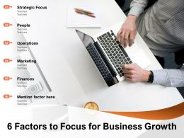 6 Factors To Focus For Business Growth