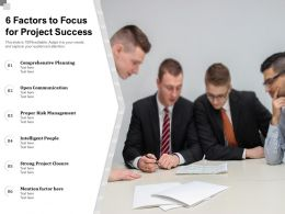6 Factors To Focus For Project Success