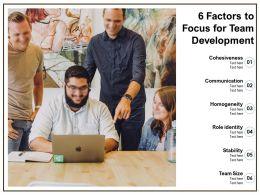 6 Factors To Focus For Team Development