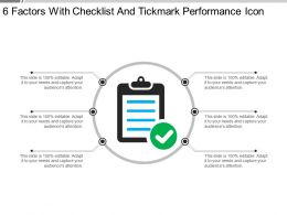 6 Factors With Checklist And Tickmark Performance Icon