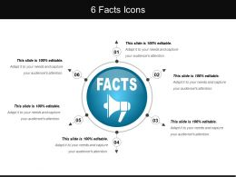 6 Facts Icons Powerpoint Templates