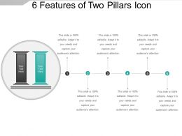 6 Features Of Two Pillars Icon Ppt Sample Download