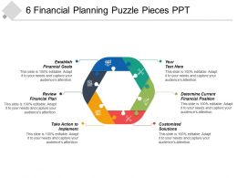 6 Financial Planning Puzzle Pieces PPT