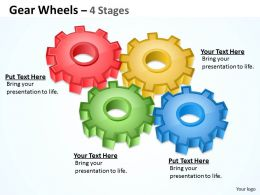 6 Gear Wheels 4 Stages
