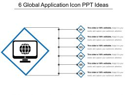 6 Global Application Icon Ppt Ideas
