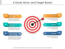 6 Goals Arrow And Target Board