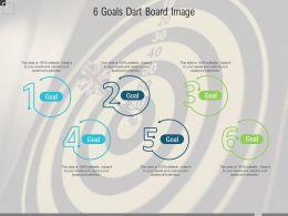 6 Goals Dart Board Image