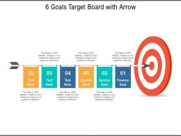 6 Goals Target Board With Arrow