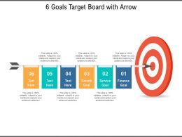 6 Goals Target Board With Arrow