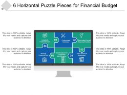 6 Horizontal Puzzle Pieces For Financial Budget