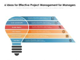 6 Ideas For Effective Project Management For Managers