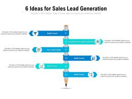 6 Ideas For Sales Lead Generation
