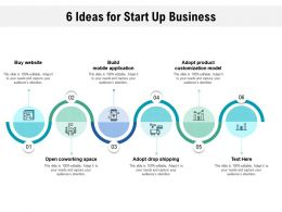 6 Ideas For Start Up Business