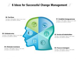 6 Ideas For Successful Change Management