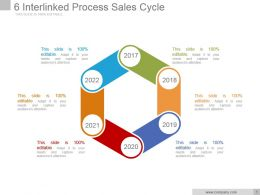 6 Interlinked Process Sales Cycle Powerpoint Show