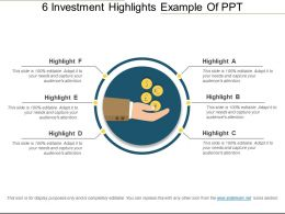 6 Investment Highlights Example Of Ppt