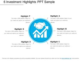 6 Investment Highlights Ppt Sample