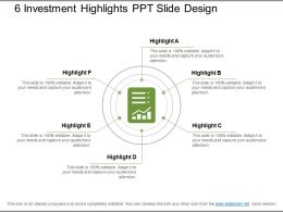 6 Investment Highlights Ppt Slide Design