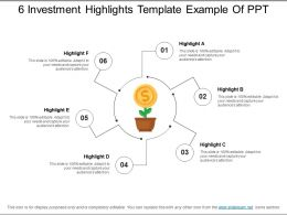 6 Investment Highlights Template Example Of Ppt