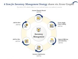 6 Item For Inventory Management Strategy Shown Via Arrow Graphic