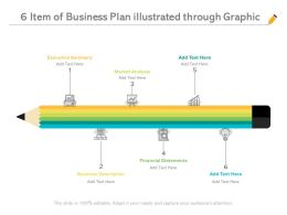 6 Item Of Business Plan Illustrated Through Graphic